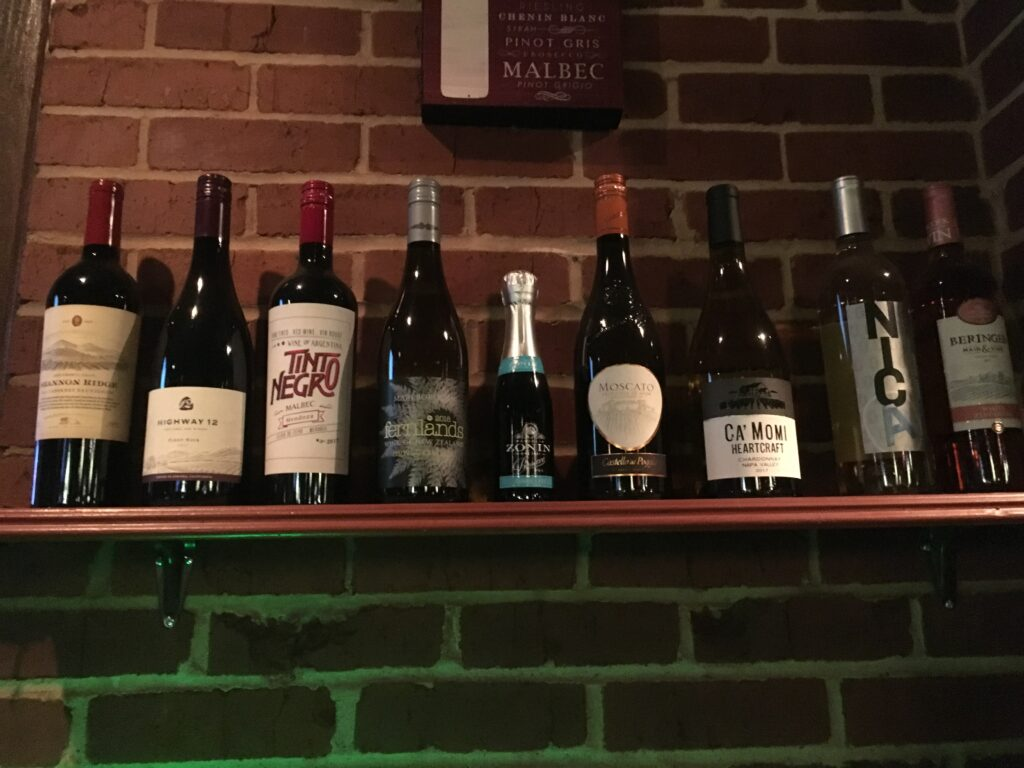 Wines By The Glass ($8)